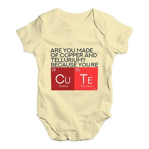 Are You Made Of Copper And Tellurium? Baby Unisex Baby Grow Bodysuit