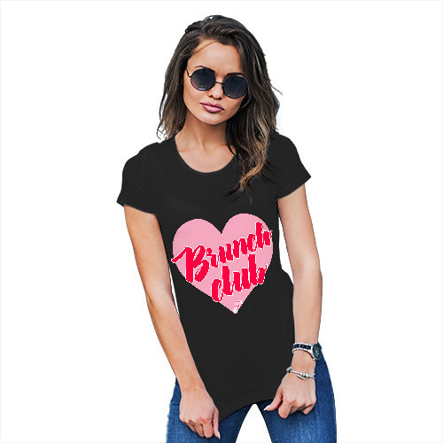 Funny T Shirts For Mom Brunch Club Women's T-Shirt Large Black