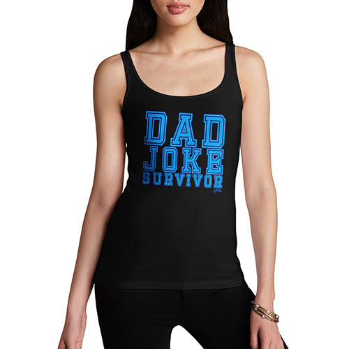 Funny Gifts For Women Dad Joke Survivor Women's Tank Top Large Black