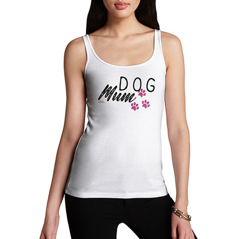 Funny Tank Tops For Women Dog Mum Paws Women's Tank Top X-Large White