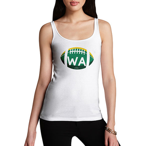 Women Funny Sarcasm Tank Top WA Washington State Football Women's Tank Top X-Large White