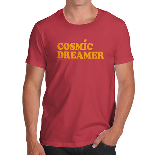 Funny T-Shirts For Men Cosmic Dreamer Men's T-Shirt Large Red