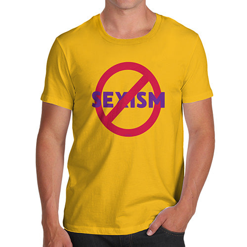 Mens Funny Sarcasm T Shirt No Sexism Men's T-Shirt Small Yellow