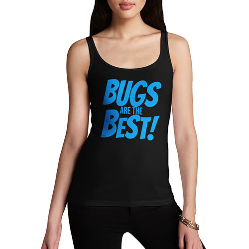 Womens Novelty Tank Top Christmas Bugs Are The Best! Women's Tank Top Large Black