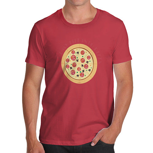 Funny Mens T Shirts Cut My Life Into Pizza Men's T-Shirt X-Large Red