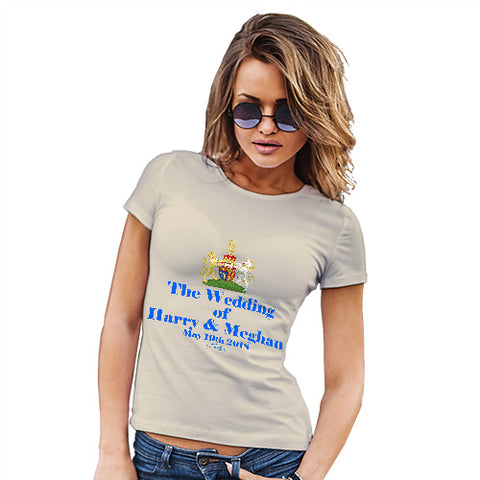 Funny Tshirts For Women Royal Wedding Harry And Meghan Women's T-Shirt Small Natural