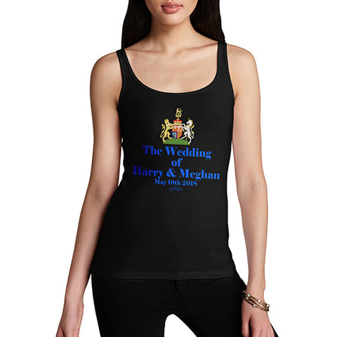 Funny Sarcasm Tank Top Royal Wedding Harry And Meghan Women's Tank Top Medium Black