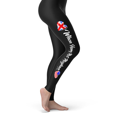Gym Leggings Women Royal Wedding When Harry Met Meghan Women's Leggings X-Large Black