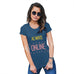 Funny Tshirts For Women Always Online Women's T-Shirt X-Large Royal Blue