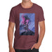 Novelty Tshirts Men Funny Neon Lightning Volcano Men's T-Shirt Small Burgundy