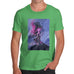 Funny T Shirts For Men Neon Lightning Volcano Men's T-Shirt Medium Green