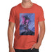 Funny Mens Tshirts Neon Lightning Volcano Men's T-Shirt Small Orange