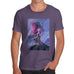 Funny T-Shirts For Guys Neon Lightning Volcano Men's T-Shirt Small Plum