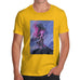 Novelty Tshirts Men Neon Lightning Volcano Men's T-Shirt X-Large Yellow