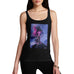 Funny Tank Top For Women Sarcasm Neon Lightning Volcano Women's Tank Top Large Black