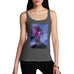 Funny Gifts For Women Neon Lightning Volcano Women's Tank Top Small Dark Grey