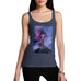 Funny Tank Tops For Women Neon Lightning Volcano Women's Tank Top Small Navy