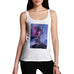 Funny Gifts For Women Neon Lightning Volcano Women's Tank Top Small White