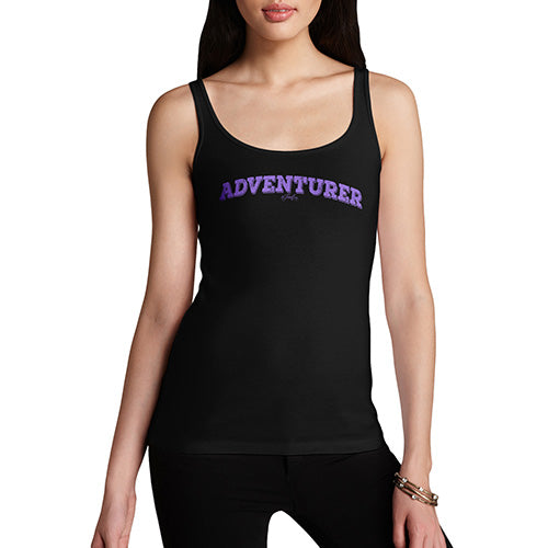 Funny Tank Top For Mum Adventurer Women's Tank Top Large Black