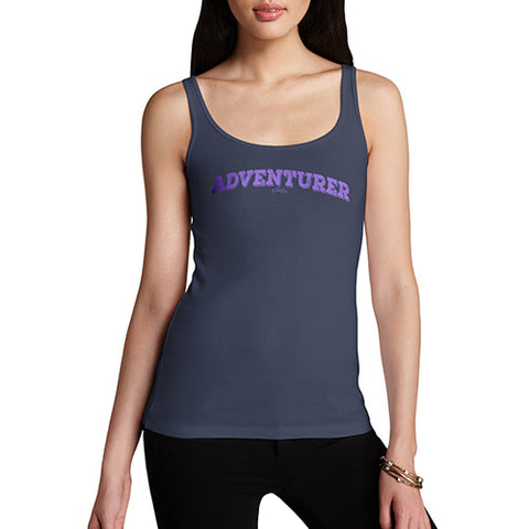 Womens Novelty Tank Top Christmas Adventurer Women's Tank Top Medium Navy