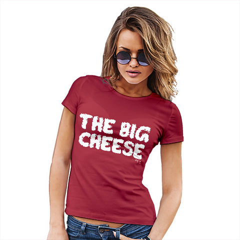 Funny Shirts For Women The Big Cheese Women's T-Shirt Small Red