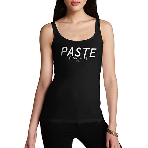 Funny Tank Top For Women Paste CTRL + P Women's Tank Top Large Black