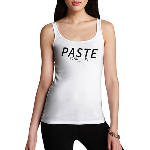 Women Funny Sarcasm Tank Top Paste CTRL + P Women's Tank Top X-Large White
