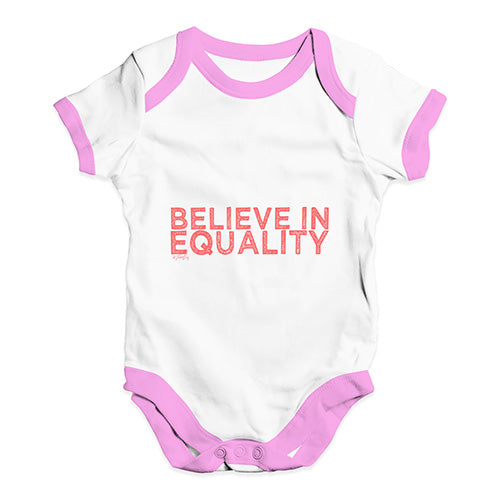 Believe In Equality Baby Unisex Baby Grow Bodysuit