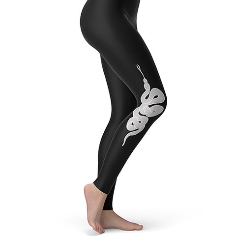 Women's Leggings Yoga Serpent Snake Medium Black