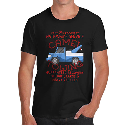 Funny T Shirts For Dad Camel Towing Men's T-Shirt Medium Black