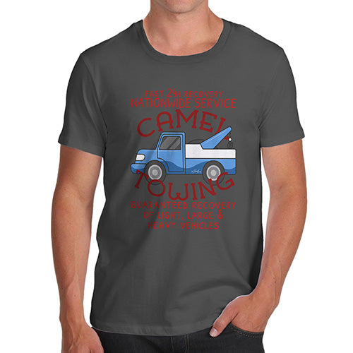 Mens T-Shirt Funny Geek Nerd Hilarious Joke Camel Towing Men's T-Shirt Small Dark Grey