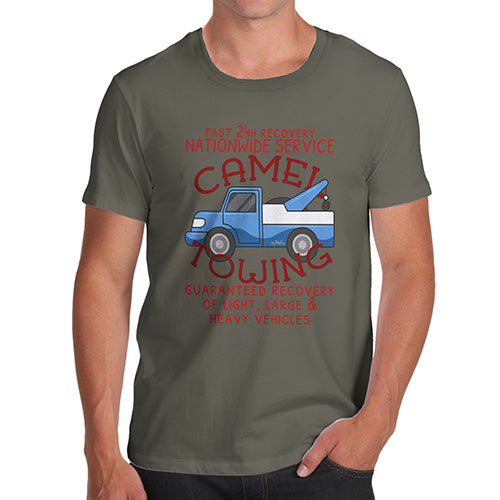 Funny T-Shirts For Guys Camel Towing Men's T-Shirt X-Large Khaki