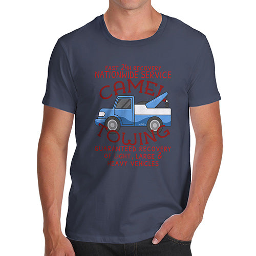Funny T-Shirts For Men Sarcasm Camel Towing Men's T-Shirt Small Navy
