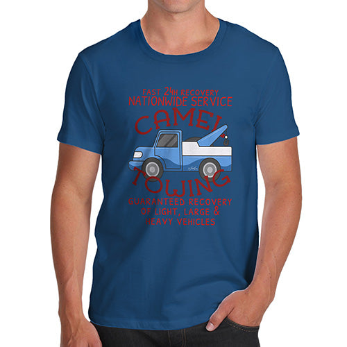 Funny T Shirts For Dad Camel Towing Men's T-Shirt Medium Royal Blue