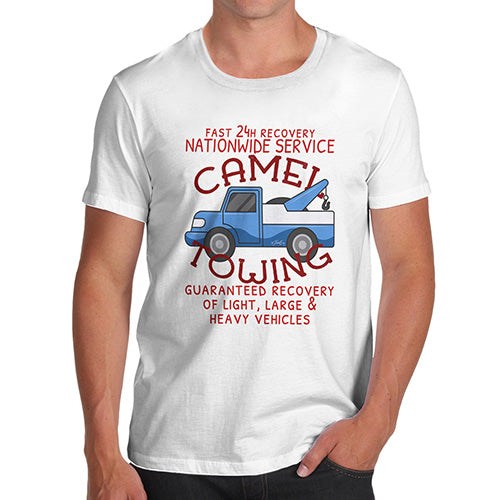 Funny Tshirts For Men Camel Towing Men's T-Shirt Small White