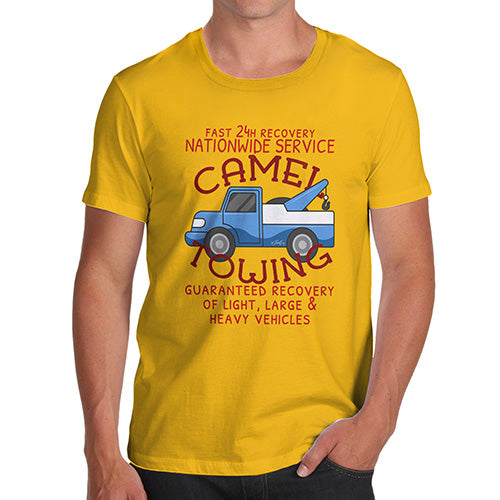 Mens Funny Sarcasm T Shirt Camel Towing Men's T-Shirt Small Yellow