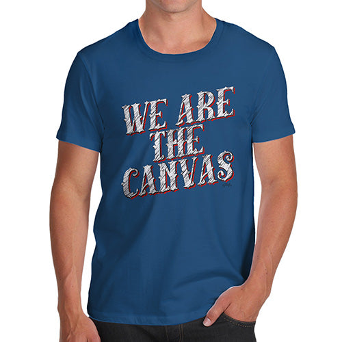 Mens T-Shirt Funny Geek Nerd Hilarious Joke We Are The Canvas Men's T-Shirt Medium Royal Blue