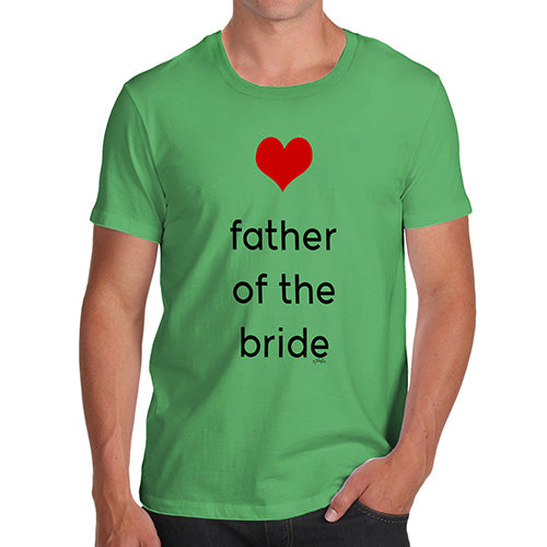 Mens Novelty T Shirt Christmas Father Of The Bride Heart Men's T-Shirt X-Large Green