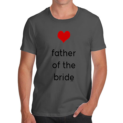Mens Humor Novelty Graphic Sarcasm Funny T Shirt Father Of The Bride Heart Men's T-Shirt Medium Dark Grey