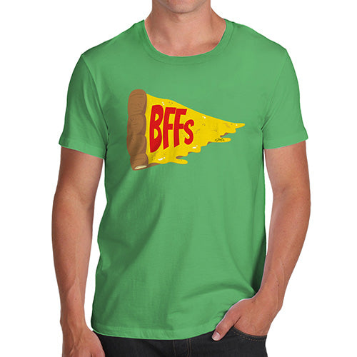 Funny Gifts For Men Pizza BFFs Men's T-Shirt X-Large Green