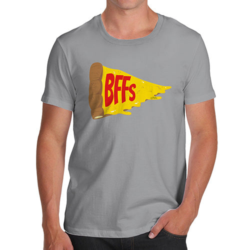 Funny T-Shirts For Guys Pizza BFFs Men's T-Shirt Small Light Grey
