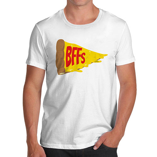 Funny Mens Tshirts Pizza BFFs Men's T-Shirt Small White