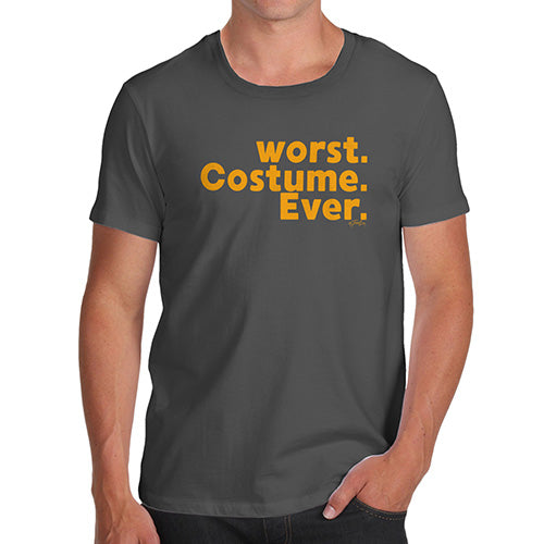 Funny T Shirts For Men Worst. Costume. Ever. Men's T-Shirt X-Large Dark Grey