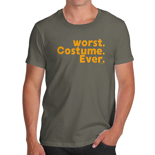 Funny T Shirts For Men Worst. Costume. Ever. Men's T-Shirt Medium Khaki