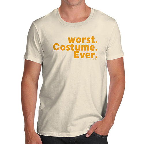 Funny Tshirts For Men Worst. Costume. Ever. Men's T-Shirt Large Natural