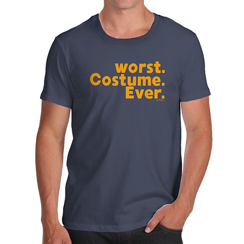 Funny Mens T Shirts Worst. Costume. Ever. Men's T-Shirt X-Large Navy
