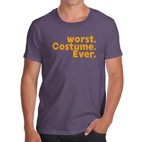 Funny T-Shirts For Men Sarcasm Worst. Costume. Ever. Men's T-Shirt Large Plum