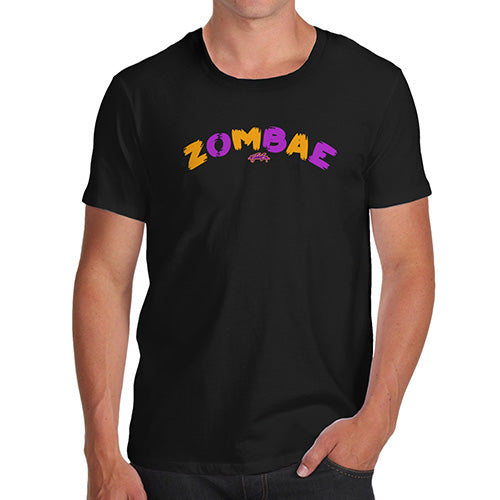 Novelty Tshirts Men Funny Zombae Men's T-Shirt Medium Black