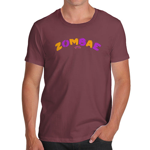Funny Gifts For Men Zombae Men's T-Shirt Large Burgundy