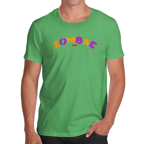 Funny T-Shirts For Guys Zombae Men's T-Shirt X-Large Green